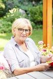 zrelaksowana starsza kobieta Obrazy Stock