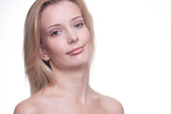 Zrelaksowana zdrowa kobieta Obrazy Stock