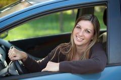 Zrelaksowany kierowca Zdjęcia Stock