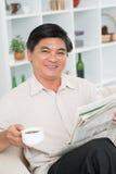 Zrelaksowany mężczyzna fotografia royalty free