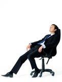 zrelaksowany zmęczony pracownik obraz royalty free