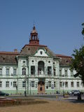 Zrenjanin city hall, Serbia. Zrenjanin City Hall is located at the Trg Slobode (Liberty Square) in Zrenjanin, Serbia. It is a seat of the Zrenjanin municipality Royalty Free Stock Photos