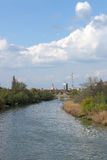 Zrenjanin view from the river. Zrenjanin Serbia view from the river Stock Image