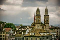 Zürich city Old Gross Muster Stock Photos