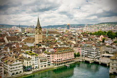 Zürich city panorama Royalty Free Stock Photography