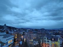 Zürich by night Stock Photography