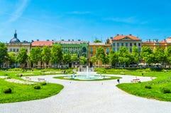 zrinjevac del parco a Zagabria immagini stock libere da diritti