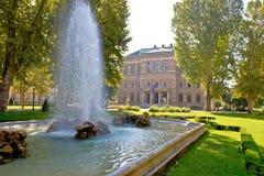 Zrinjevac square , park in Zagreb Royalty Free Stock Image
