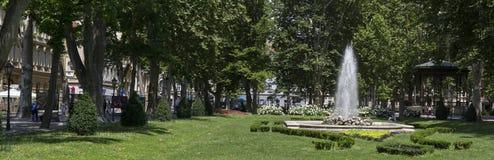 Zrinjevactuin in Zagreb, Kroatië royalty-vrije stock fotografie