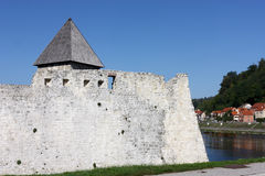 Zrinski castle, detail Royalty Free Stock Images