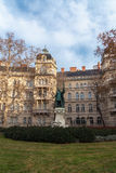 Zrinyi Miklos monument, Budapest Royalty Free Stock Photo