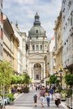 Zrinyi Street, Budapest, Hungary Royalty Free Stock Image