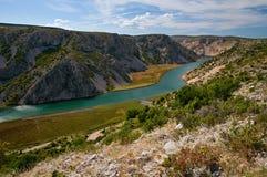 Zrmanja Canyon At Obrovac Royalty Free Stock Photos