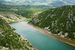 Zrmanja river Royalty Free Stock Photography