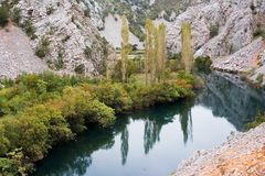 Zrmanja river canyon Royalty Free Stock Image