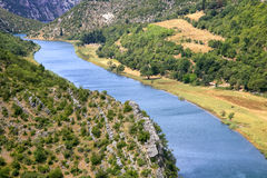 Zrmanja river Stock Images