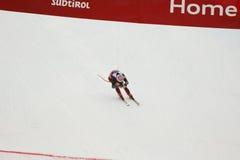 ZRNCIC FÖRDUNKLAR Natko i FIS alpina Ski World Cup - 3rd MÄNS SUPER-G Royaltyfri Fotografi