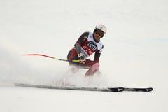 ZRNCIC FÖRDUNKLAR Natko i FIS alpina Ski World Cup - 3rd MÄNS SUPER-G Royaltyfria Bilder