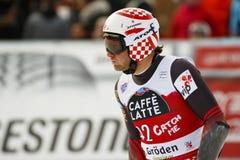 ZRNCIC FÖRDUNKLAR Natko i FIS alpina Ski World Cup - 3rd MÄNS SUPER-G Royaltyfri Foto