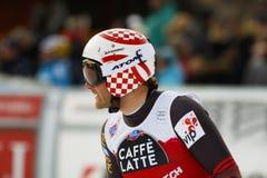 ZRNCIC FÖRDUNKLAR Natko i FIS alpina Ski World Cup - 3rd MÄNS SUPER-G Royaltyfri Bild