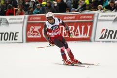 ZRNCIC SCHEMERIGE Natko in FIS Alpien Ski World Cup - super-g van 3de MENSEN Stock Afbeelding