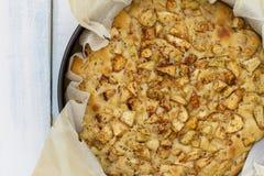 zrobiła ciasto jabłko dom Zdjęcie Royalty Free