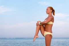 zrobić z jogi Zdjęcie Stock