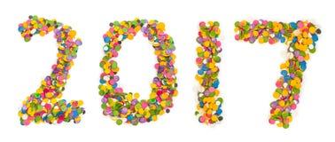 2017 zrobili confetti Fotografia Stock