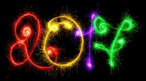 2017 zrobili sparklers na czarnym tle Obraz Royalty Free