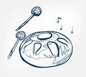 Zrozumienia nakreślenia linii wektorowego projekta muzyczny instrument ilustracji