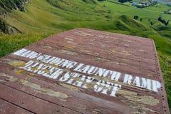 Zrozumienia szybownictwa platformy startowej wysoka above łąka Fotografia Stock