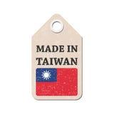 Zrozumienie etykietka robić w Tajwan z flaga również zwrócić corel ilustracji wektora ilustracja wektor