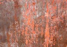 Zrudziała żelazna metal powierzchnia Tekstura i tło obraz stock