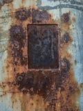 Zrudziała tekstura z metalu talerzem, abstrakcjonistyczny grunge tło zdjęcie royalty free