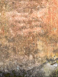 Zrudziałej tekstury kamienna ściana Fotografia Stock