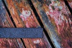 Zrudziały i Wietrzejący drewno Zdjęcie Stock