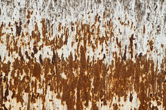 Zrudziały metal tekstury tło Zdjęcie Royalty Free