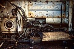Zrudziali metal części kable obrazy royalty free