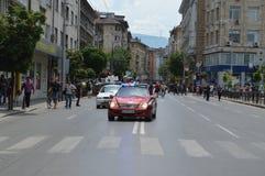 Zrzesza protest pracownicy w ministerstow spraw wewnętrznych obrazy royalty free