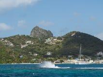 Zrzeszeniowa wyspa w grenadynach Obrazy Stock