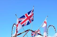 Zrzeszeniowej dźwigarki i anglików flaga Zdjęcia Royalty Free