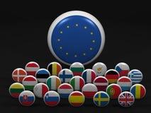 zrzeszeniowi europejscy wysoka rozdzielczość symbole Fotografia Royalty Free