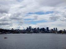 Zrzeszeniowy jeziora i Seattle pejzaż miejski Obraz Stock
