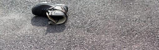 Zrzucony but Obrazy Stock