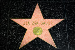 Zsa Zsa Gabor Star on the Hollywood Walk of Fame Stock Photo