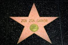 Zsa Zsa Gabor Star na caminhada de Hollywood da fama Foto de Stock
