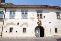 Zsolnay博物馆入口在佩奇匈牙利 免版税库存照片