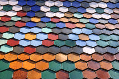 Zsolnay honeycomb roof tiles Stock Photos