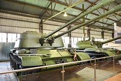 ZSU-57-2 (Ob'yekt 500) är ett sovjetiskt självgående anti--flygplan Arkivbild