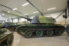 ZSU-57-2 - the Soviet antiaircraft self-propelled artillery cannon in the tank museum of the Parola Royalty Free Stock Photography